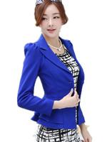 Free Shipping  2015 Spring Autumn female long-sleeve blazer outerwear,Candy Color ruffle design Short Short   S-3Xl