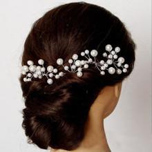 2015 new best bride hair accessory pearl beaded flower hair stick wedding hair accessories hairpins 2pcs