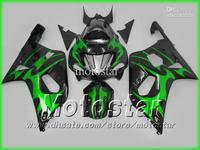 5 Gift  Green black fairing kit for GSXR 600 K1 GSXR600 01 02 03 GSX-R750 body GSX-R600 2001 2002 2003