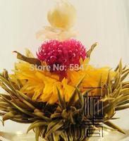 green tea 16 kinds Blooming tea, Artistic Blossom Flower Tea, Individual vacuum packing Free Shipping