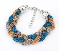 2015 New Arrival Women All-match Metal Chain Rope Weave Bracelet Jewellery / Fashion Female Pulseras Bracelet
