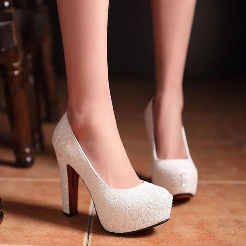 2015 New Brand Red Bottom High Heels Glitter wedding shoes Pumps hot sale(China (Mainland))
