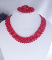 F0085!!  fashion New Free ship!!!Fashion African Wedding Coral  Coral Necklace Bracelet Earring Set