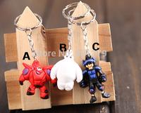 Free shipping 24pcs/lot new arrival  Big Hero 6 Baymax figure keychains Anime pendants