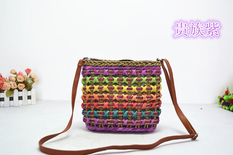 Hot Lady Bohemia bag fashion popular vintage colourful handbag women outdoor Small Casual retro messenger bag 2015(China (Mainland))