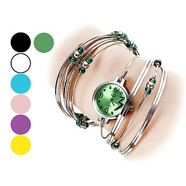 Women Watch Silver Steel with Beads Metal Clock female Dress Women Girls Bracelet Bangle Wristwatch Siver Relogio feminino(China (Mainland))