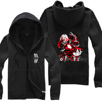 Anime Tokyo Ghoul 04 Zipper Sweatshirt Suit The Autumn long sleeve hoody Outerwears tshirt