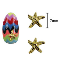 20pcs/lot starfish nail beauty charms Metal Deco