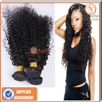 "7a Curly Wave Malaysian virgin hair bundles Curly Wave unprocessed brazilian human hair weave natural black 8""-30"" 2/3pcs lot"