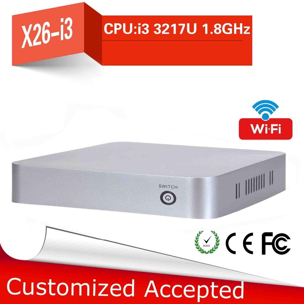 High-performance Powerful energy-saving CPU intel 3217u core dual fanless thin client barebone computer mini pc desktop computer(China (Mainland))