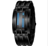 SKMEI Tungsten Steel Watches Men Binary LED Watch Sport Clock Outdoor Fashion Watch Calendar Luxury Digital Lovers Watch Pair