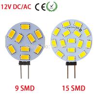 1 PCS DC 12V Said-pins G4 LED Bulb 3W 4W 5730 SMD 9leds 15leds Round Range Hood Lamp Lighting