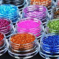 2015 Fashion  Nail Art Tool Kit Acrylic Dust gem Polish Nail Tools 12 Color Metal Glitter#M01090