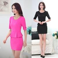 Fashion Women Summer Dresses Casual Ladies Party Dress Slim Mini Vestidos Femininos Korean Styles Free Shipping