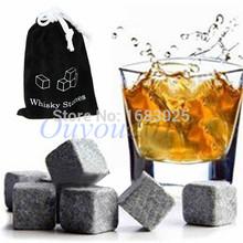 12pcs/lot Whisky Wein steine kühler chiller Felsen Gletscher kaltem eis würfel speckstein bulk balken home bier kühler(China (Mainland))