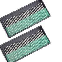 "60pc Diamond Burr Bit Set for Dremel Rotary Tools 1/8"" 150 Grit + Organizer Case"