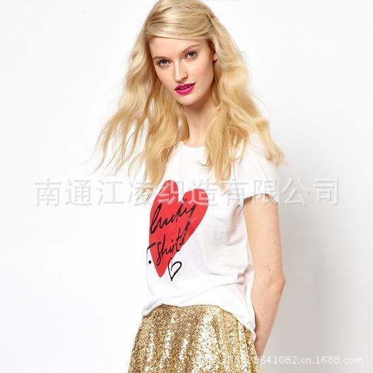 Haoduoyi lucky Tshirt type printing tee white female T-shirt(China (Mainland))