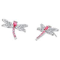 New!!! Best Quality Platinum Plated Austria Crystal Dragonfly Earrings,Wholesale Rhinestone Earrings,Fashion Jewelry,GYR860