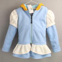 2015 Baby girl Cinderella Jacket, Kids Girls Fleece Coat Design Children Girl Autumn winter Hoodies Clothing Fashion Kid Wear