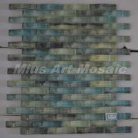 [Mius Art Mosaic] Colorful  wave crystal glass mosaic tile  kitchen backsplash  tilie D2014
