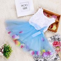 2015 Summer Infant Baby Girls Dress Princess Yarns Tutu Dress Flower Edge Popular Children's Dresses Vest Dress Babys 0-2T