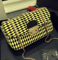 Diamond lattice Woolen Bag, 2015 new handbag, Euramerican street fashion bag,small chain bag