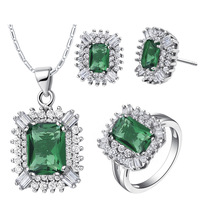 Best Quality Platinum Plated Luxury Austrian Crystal Set,Fashion Crystal Necklace & Rings & Earrings,Fashion Jewelry,GYT546