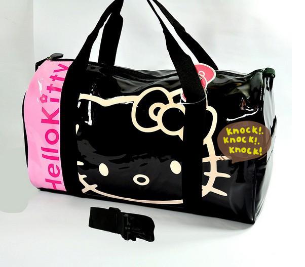 Large Capacity Hello Kitty Leather Bags Multi Function Shoulder Bag Adjustable Hello Kitty Handbags Waterproof Travelling Bag(China (Mainland))