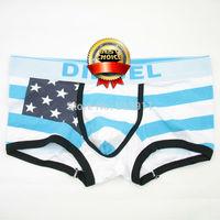 10 Pcs/Lot Mens Underwear Sexy Hot Selling Men Boxer Shorts Cotton National flag Underwear