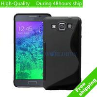 High Quality 10pcs/lot Soft TPU Gel S line Skin Cover Case For Samsung Galaxy E5 E500 Free Shipping