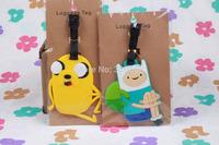 Adventure Time PVC luggage tag / baggage tag / cute baggage claim tag / Travel Name Tag