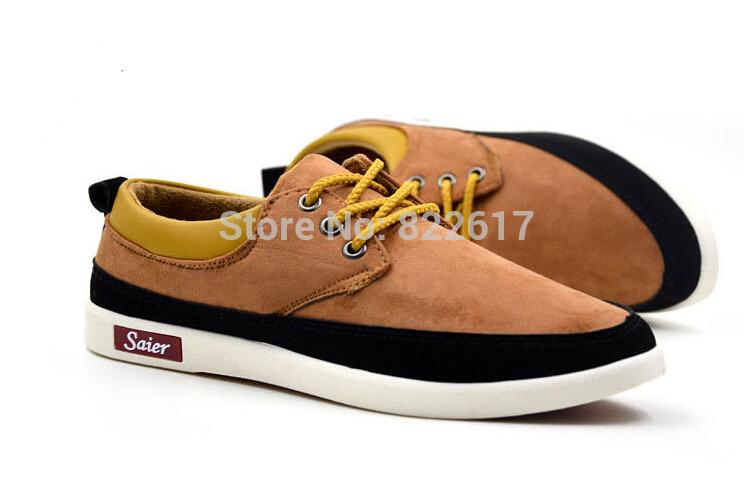 Vender como bolos quentes 2015 nova primavera de veludo tênis sapatos masculinos de couro respirável sapatos casuais 3 cores 39-43 jardas(China (Mainland))
