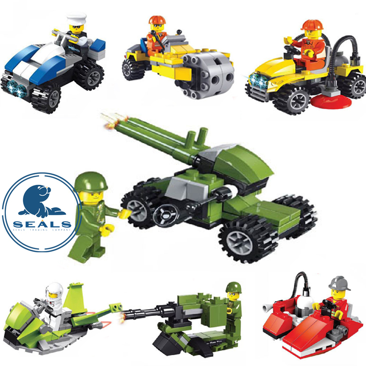 Building blocks cars learning toys for kids boys and girls miniature scale models 3D playmobil minifigures(China (Mainland))