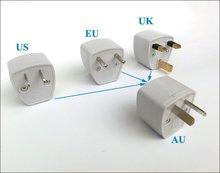 20pcs/lot 5V 2A Travel Wall AC Power Conversion head  Wholesale Portable Safety guarantee UK/US/EU to AU plug adapter switch