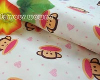 FC276 monkey cotton fabric for pajamas pillowslip quilt meter cloth bedding
