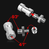 "5pcs 3in1 Wholesale- 1/4 inch 3/8 inch 3in1 1/4"" screw Spigot Stud convert Adapter free ship"
