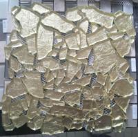 [Mius Art Mosaic] Irregular sparkle crystal glass mosaic tile wall itle kitchen backsplash D2011