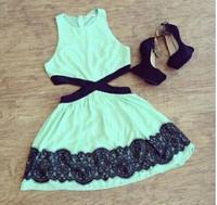 dress 2015 vestidos para festa women dress vestidos ladies elegant dress slim flower lace dress vestidos femininos