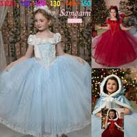 5pieces/lot Girls Dress For Kids Christmas Dresses Girls Clothes Costume Vestidos Infantis Red Party Baby Princess Dresses A634