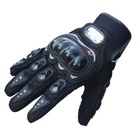Hot Sale !! 1 Pair Black Sports Motorbike Motorcycle Gloves 3D-Dimensional Breathable Mesh Fabric Summer Gloves Popular Leather