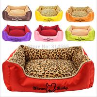 Super-Soft Short Plush Pet Nest Corn Grain Velvet Dog Bed Square Doghouse Cats Waterloo 7 Color Optional