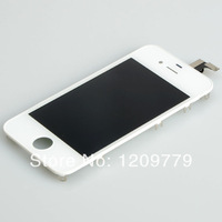 Free shipping 2pcs White Touch Digitizer LCD Display Assembly for iPhone 4G BA019 T15