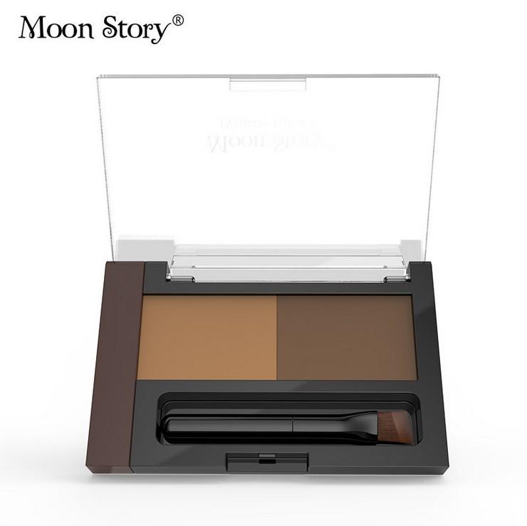 Make-up Product Eyebrow Enhancers High Quality Eyebrow Powder + Brush Sweatproof and Waterproof Eye Brow Palette Shadow(China (Mainland))