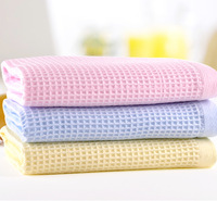 New 2015 Brand Towel -3PC/lot 100% Cotton Hand towel toalha de banho Soft Towels Bathroom Children Honeycomb Plaid Face Cloth