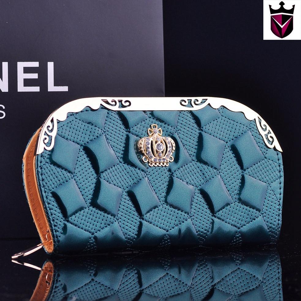 2015 genuíno couro de patente Shell bolsa carteira senhora longa seção da elipse multifuncionais bolsa mulheres bolsa de telefone(China (Mainland))