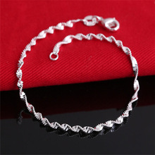 Wholesale Jewelry Pulseras 925 Silver Bracelet Charm Bracelets for women Bracelets & bangles BG122
