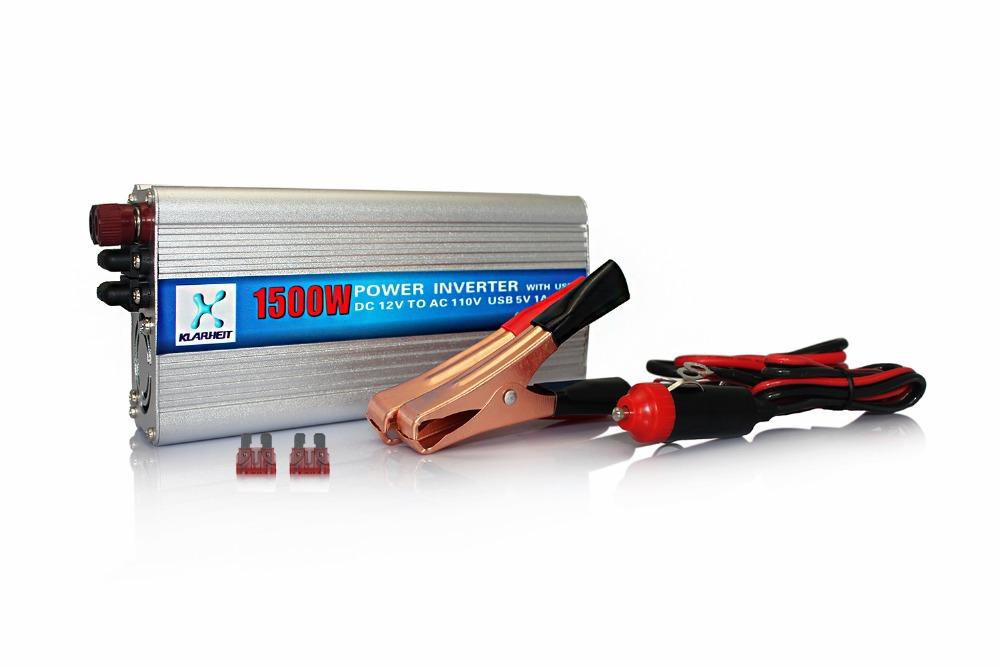 Car Power Inverter Converter 1500W DC 12V To AC 110V Adapter Voltage charger Transformer(China (Mainland))