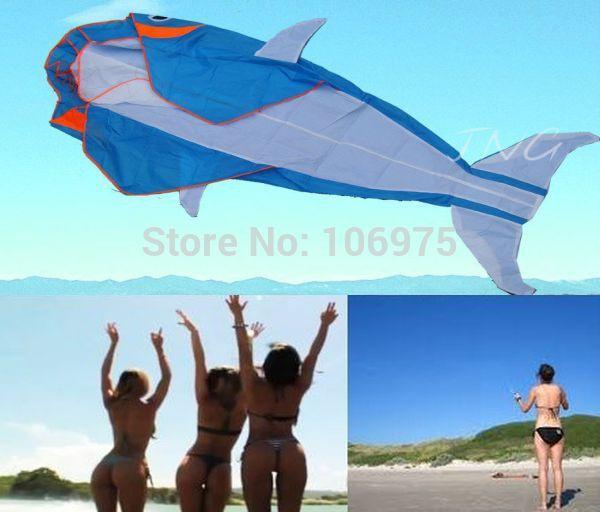 "LET""S GO FLY A KITE! 3D BIG WHALE FRAMELESS PARAFOIL FOIL KITE BEACH PARK GARDEN FUN(China (Mainland))"