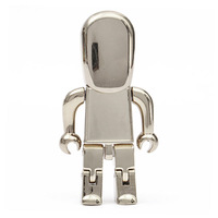 High Speed 8gb 16gb 32gb 64gb Usb 3.0 Metal Robot Pendrive Pendrives Flash Drive Memory Card Stick Disk On Key 64gb Gift Gifts
