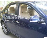 Side Door Bottom Window Sill Trims 4pcs For Volkswagon VW jetta MK5 2007-2009